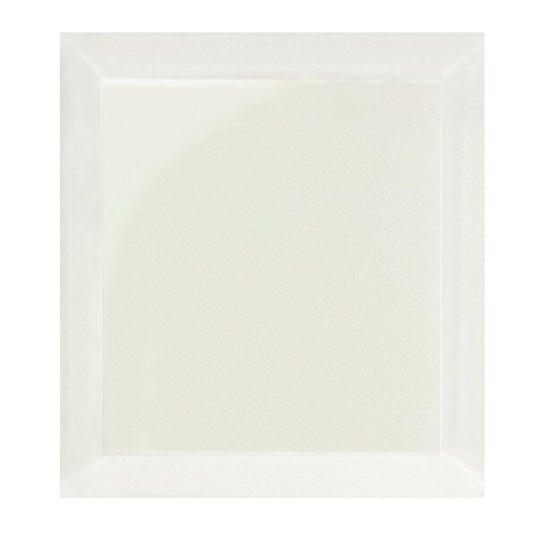 Frosted Elegance 8 x 8 Beveled Glass Field Tile in Glossy Creme by Abolos