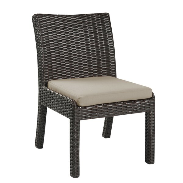 Steinhatchee Outdoor Patio Dining Chair with Cushion (Set of 2) by Brayden Studio