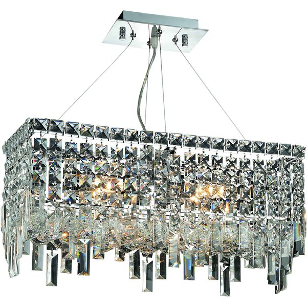 Maxime 4-Light Crystal Chandelier by Elegant Lighting