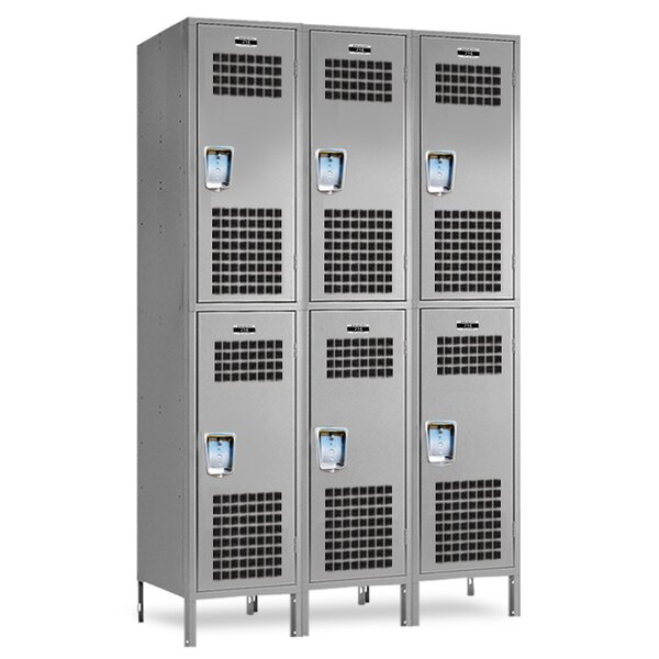 3 Tier 2 Wide School Locker by Jorgenson Lockers