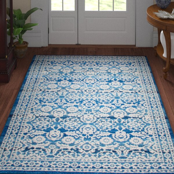 Plumville Blue Area Rug by Three Posts