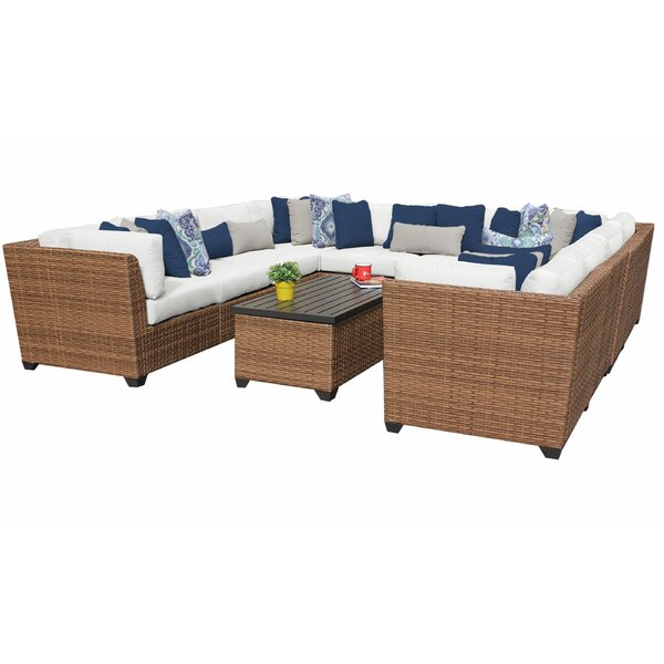 Waterbury 11 Piece Rattan Sectional Seating Group with Cushions by Sol 72 Outdoor