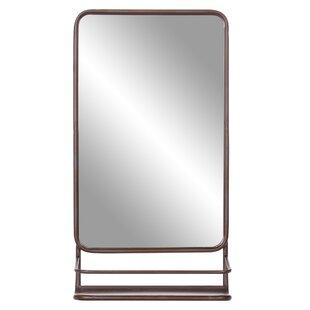 Gracie Oaks Amata Metal Wall Mounted Mirror