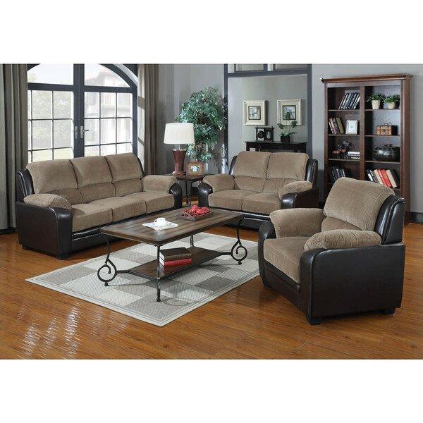 three piece living room set.  Container 3 Piece Living Room Set Reviews Wayfair