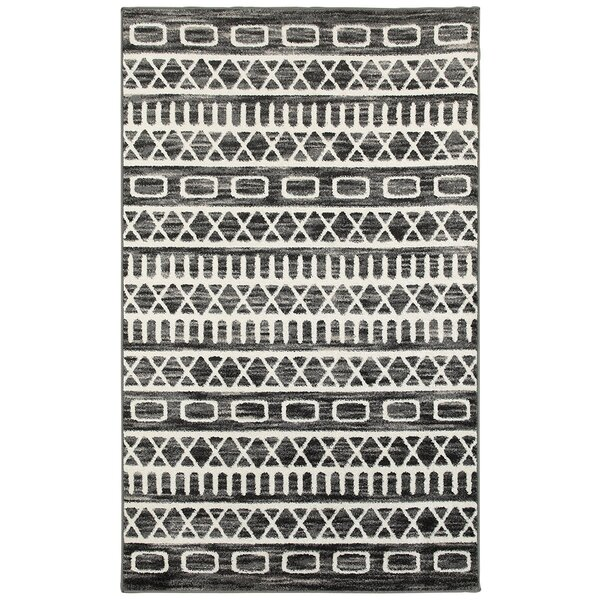 Echo Gray Area Rug by Mercury Row