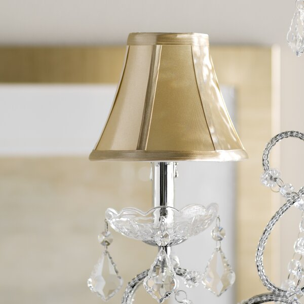 5 H Fabric Bell Lamp Shade ( Clip On ) in Gold