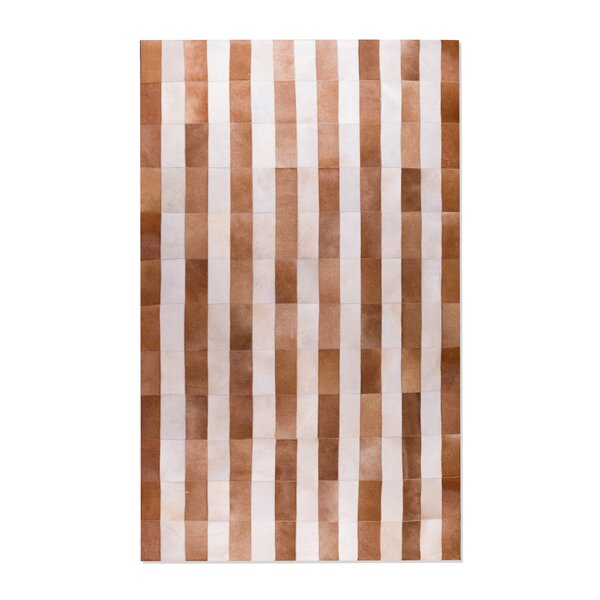 Brown/White Safari Cowhide Area Rug by Natural Rugs
