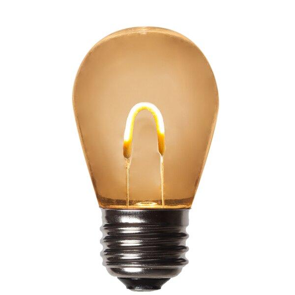 1W E26 LED Light Bulb Amber (Set of 5) by Wintergreen Lighting