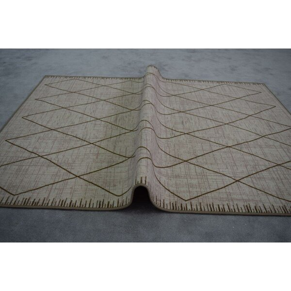 Huntley Wool Ivory/Brown/Gray Area Rug by Winston Porter