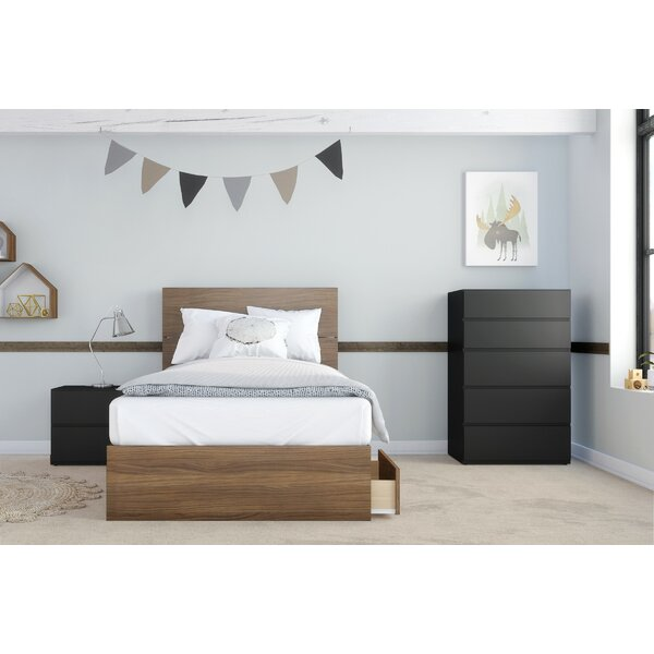 Perera Twin Platform 3 Piece Bedroom Set by Harriet Bee