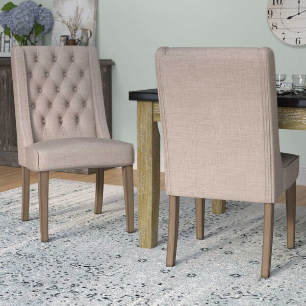Eidelweiss Upholstered Dining Chair (Set of 2) by Three Posts