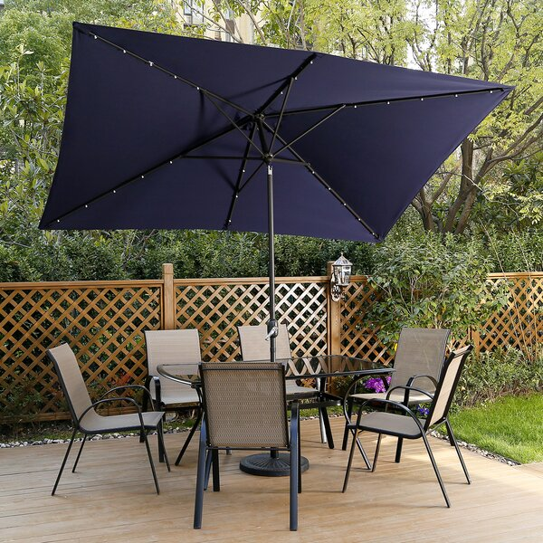 Somerville 10' X 6.5' Rectangular Market Umbrella By Freeport Park by Freeport Park Wonderful