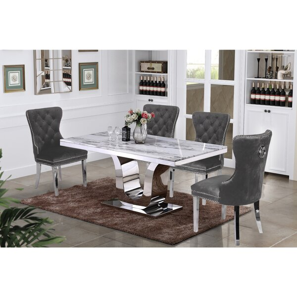 Cris 5 Piece Dining Set by Everly Quinn