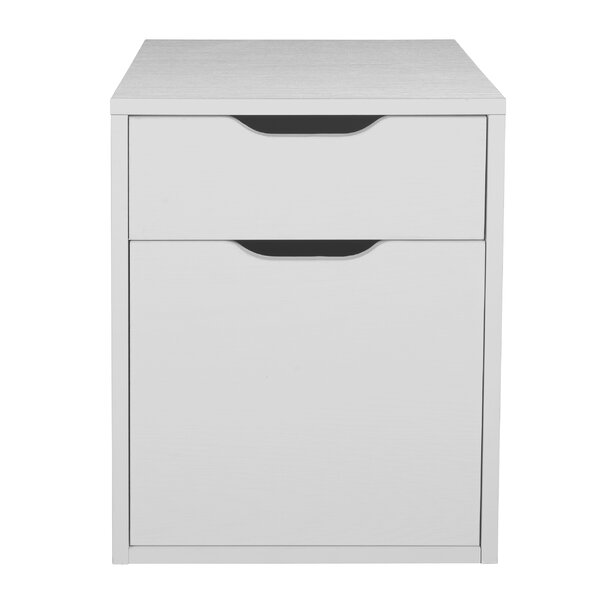 Freestanding 2-Drawer Vertical Filing Cabinet by Rebrilliant