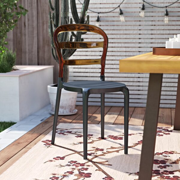 Nickell Stacking Patio Dining Chair (Set of 2) by Ebern Designs