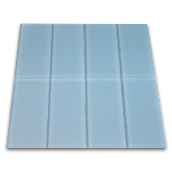Wind 3 x 6 Glass Mosaic Tile in Matte Sky Blue by CNK Tile