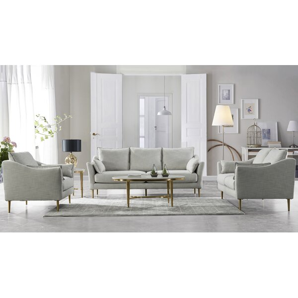 Acanva Mid-Century Modern 3 Piece Living Room Set by Ivy Bronx Ivy Bronx