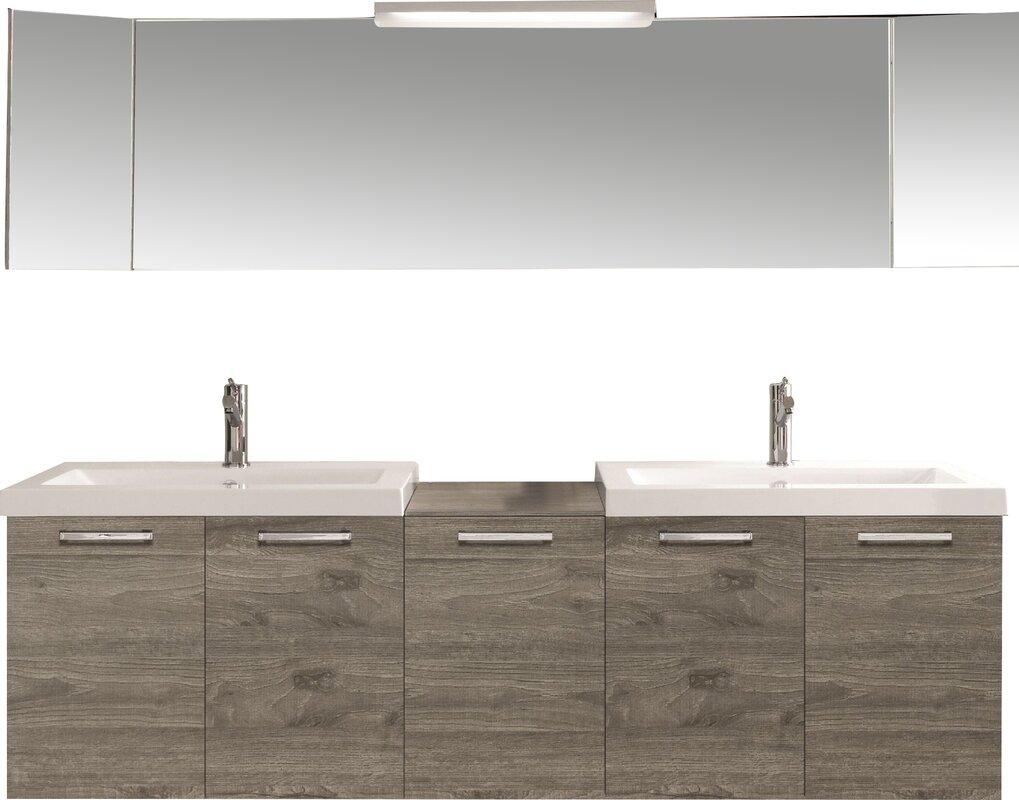 Design Modern Vanity Sink modern bathroom vanities cabinets allmodern 69 double vanity set