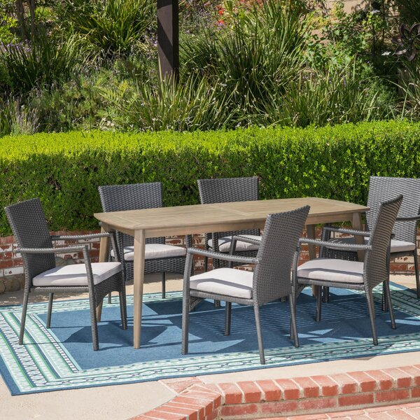 Juan 7 Piece Dining Set with Cushions by Latitude Run