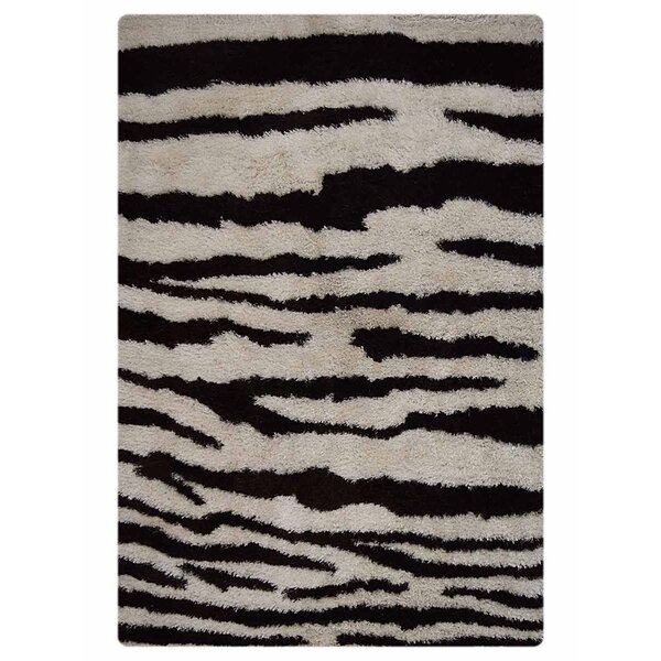 Marathon Hand-Tufted Black/Gray Indoor/Outdoor Area Rug by Bloomsbury Market