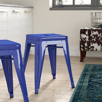 Everly Quinn Remigio Solid Wood Accent Stool Wayfair