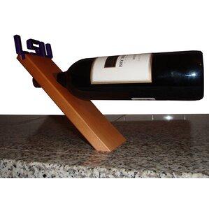 NCAA Floating Stand 1 Bottle Tabletop Wine Rack by Fan Creations