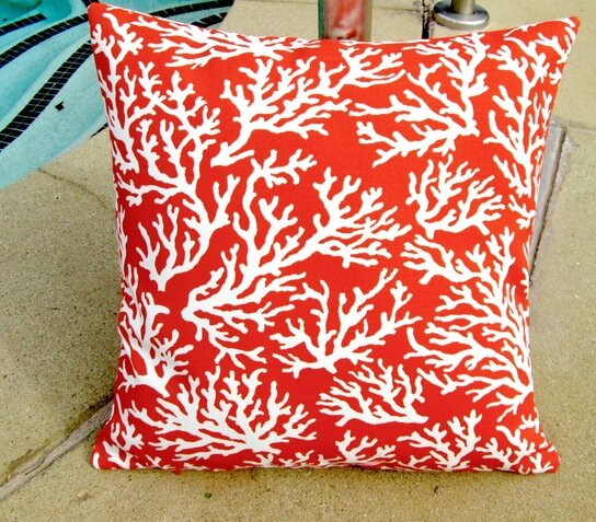 Coral Reef Beach House Indoor/Outdoor Pillow Cover (Set of 2) by Artisan Pillows