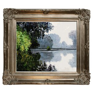 Morning on the Seine Near Giverny by Claude Monet Framed painting by Tori Home