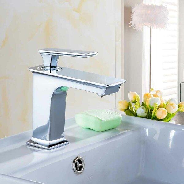 Ceramic Rectangular Drop-In Bathroom Sink with Faucet