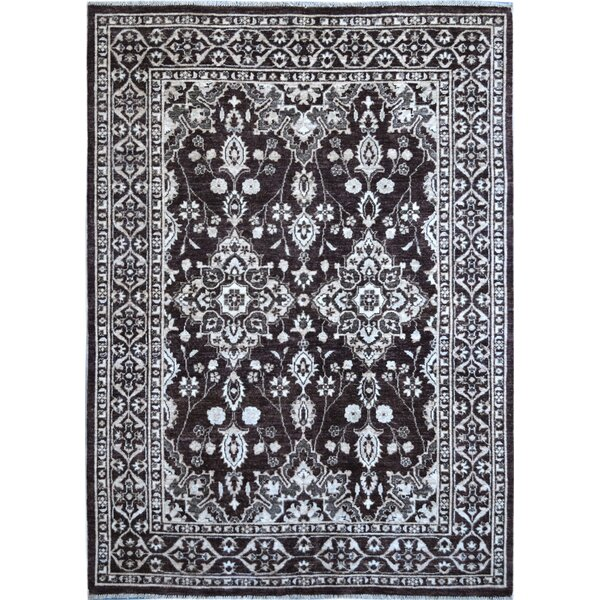 Hand-Knotted Black/White Area Rug by Wildon Home ®