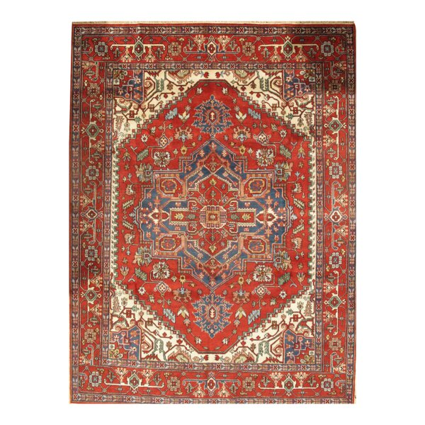 Aubepine Hand Knotted Wool Red/Beige Area Rug