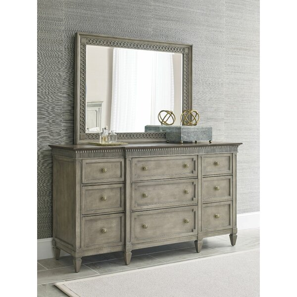 Ainsley 9 Drawer Chest with Mirror by One Allium Way