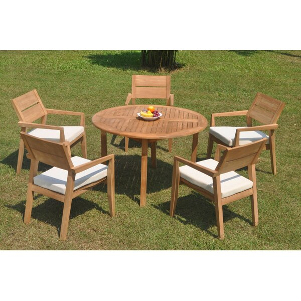 Retiro 6 Piece Teak Dining Set by Rosecliff Heights