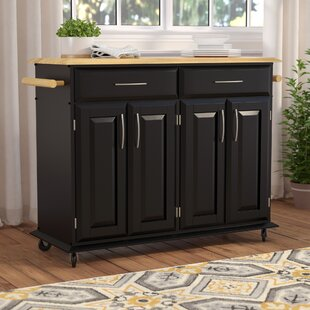 Lemont Kitchen Island with Wood Top ByCharlton Home