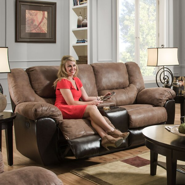Weekend Promotions Simmons Upholstery Derosier Motion Reclining Loveseat by Darby Home Co by Darby Home Co