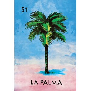 'La Palma Tree' Graphic Art Print on Canvas by WeLoveCMYK