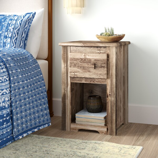 Abella Rustic End Table by Loon Peak