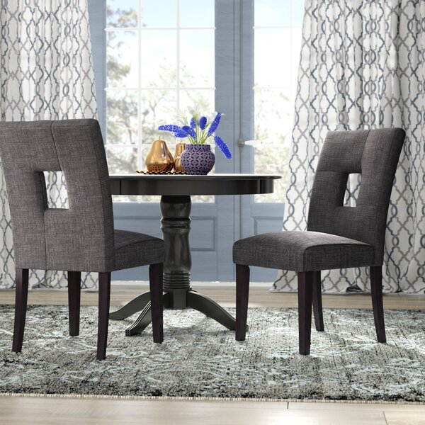 #1 Oakely Upholstered Dining Chair (Set Of 2) By Winston Porter 2019 Coupon