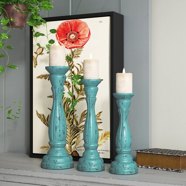 3 Piece Candlestick Set By August Grove.
