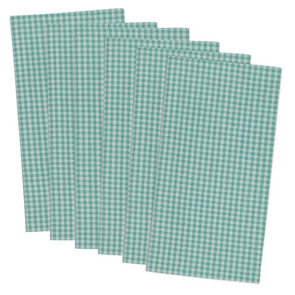 Allenport Check Printed Napkin (Set of 6) by August Grove
