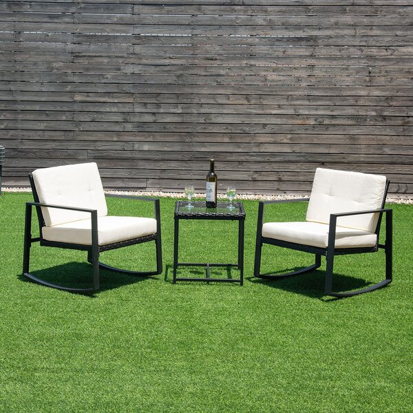 Kutlu 3 Piece Bistro Set with Cushions by Latitude Run