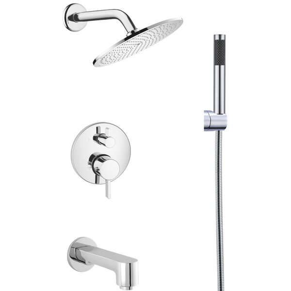 Splash Diverter Tub and Shower Faucet with Hand Sprayer by Eviva Eviva