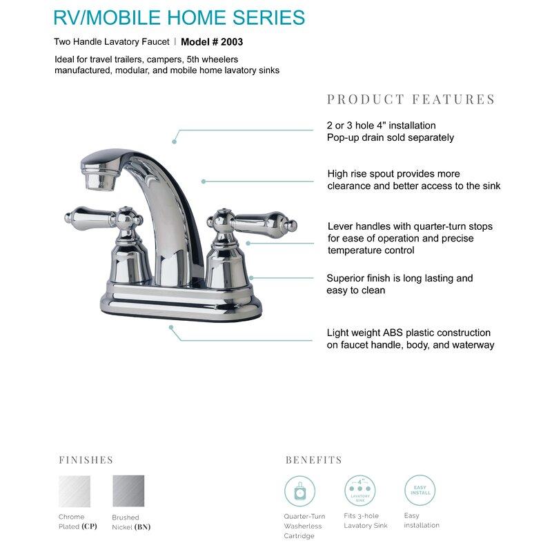Mobile Home Centerset Bathroom Faucet