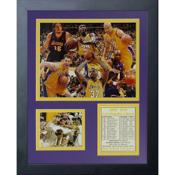 2010 Los Angeles Lakers NBA Champions Framed Memorabilia by Legends Never Die