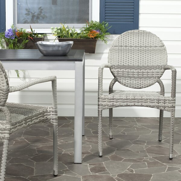 Jeanbaptiste Stacking Patio Dining Chair (Set of 2) by Lark Manor Lark Manor