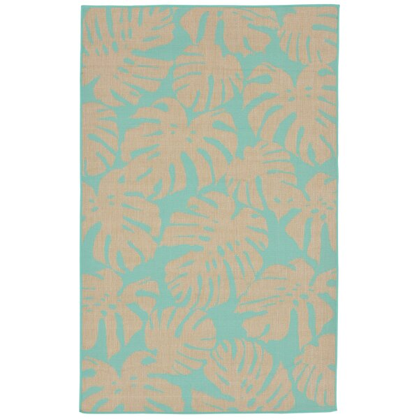 Lambert Fronds Blue Indoor/Outdoor Area Rug by Bay Isle Home