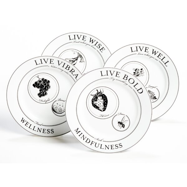 Celebrate Portion Control Plate Setting, Service for 4 (Set of 4) by Livliga