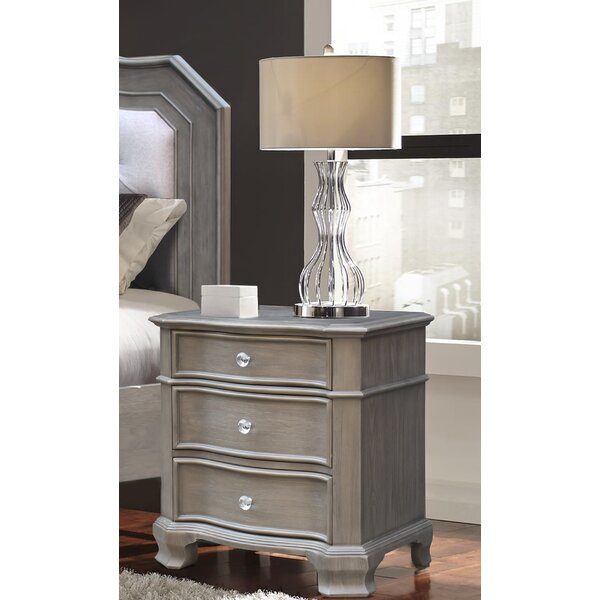 Savell 3 Drawer Nightstand by House of Hampton