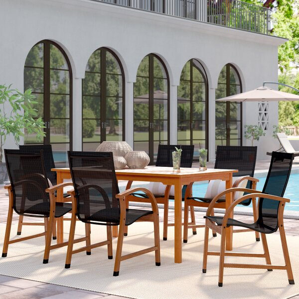 Ely Jersey 7 Piece Dining Set by Beachcrest Home