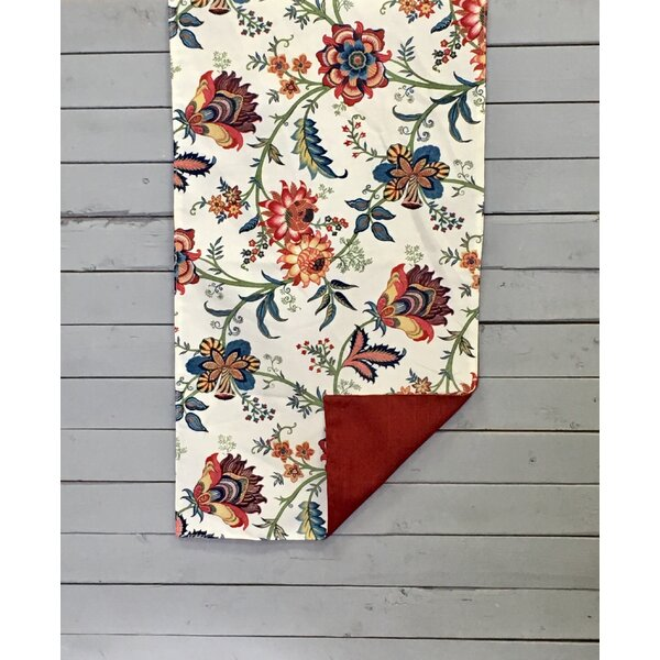 Kennamer Floral Vine Reversible Table Runner by Alcott Hill